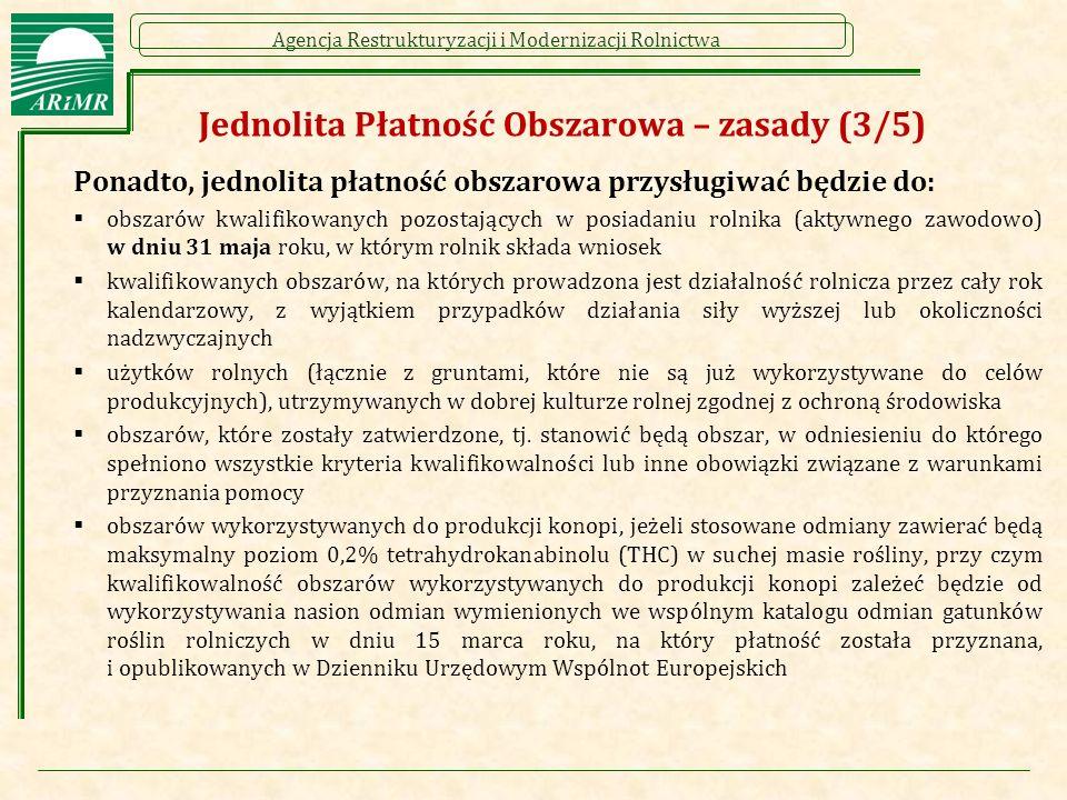 Agencja Restrukturyzacji i Modernizacji Rolnictwa Płatność dla młodych rolników (4/7)  Za datę rozpoczęcia działalności rolniczej przez danego rolnika można np.