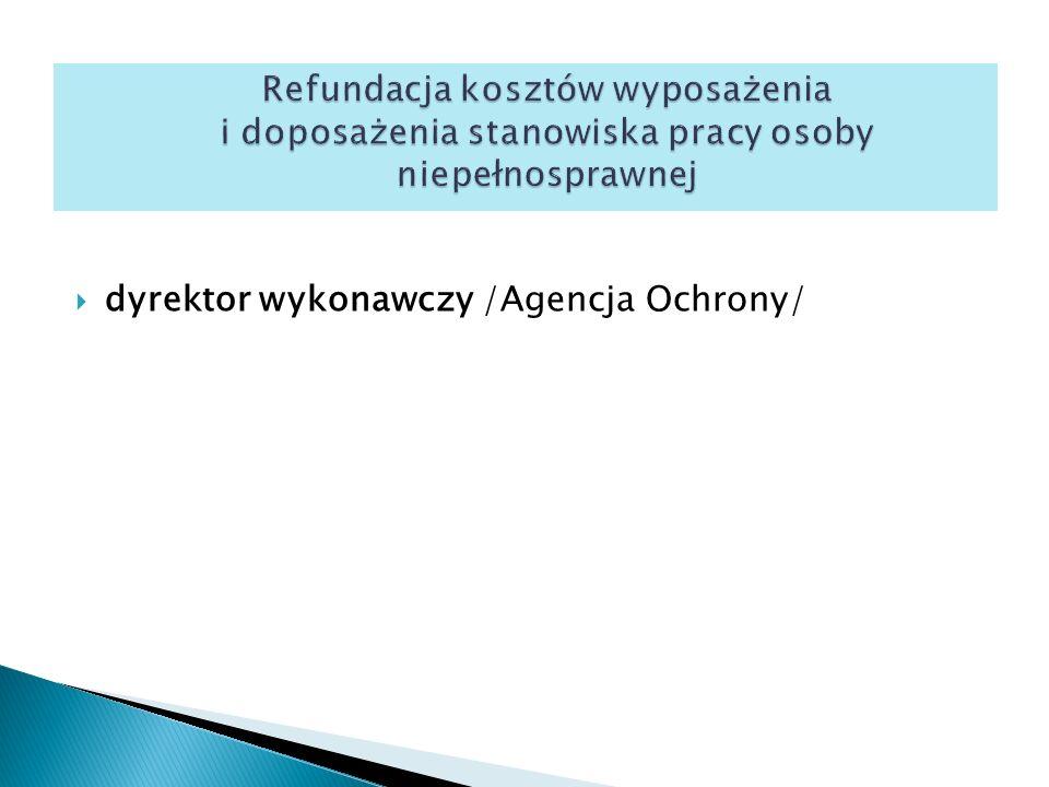  dyrektor wykonawczy /Agencja Ochrony/