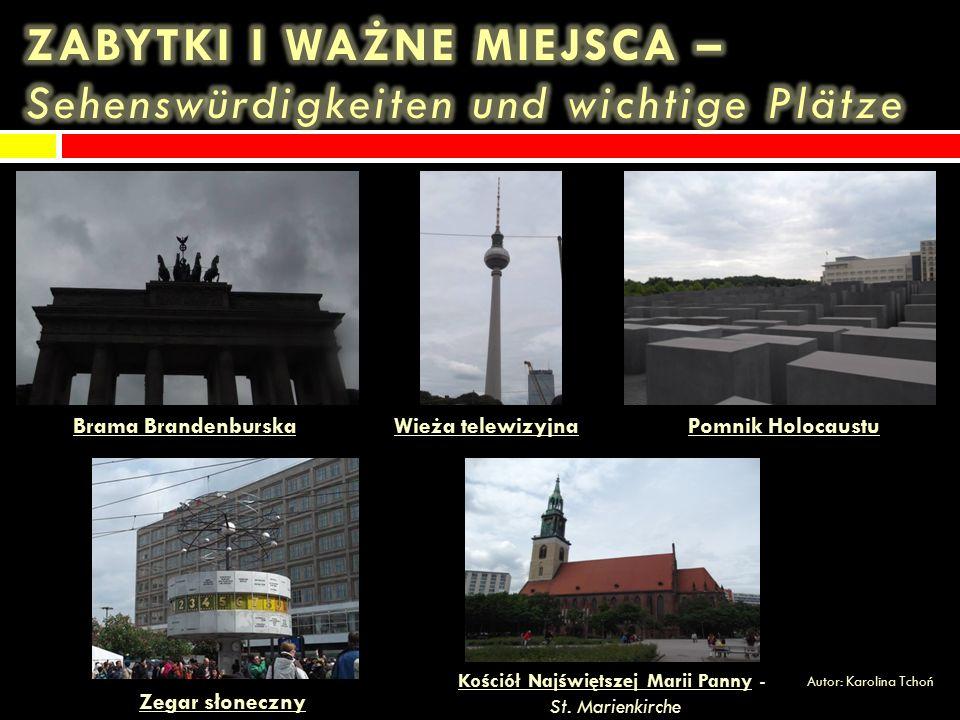 Berlin jest stolicą (die Hauptstadt) i jednocześnie największym miastem Niemiec.
