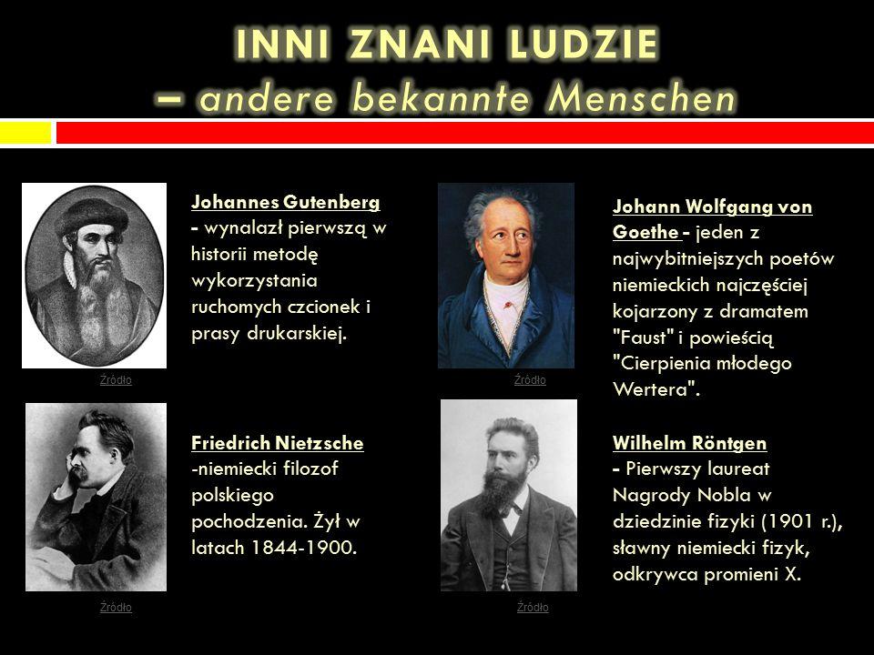 Johann Sebastian Bach Ludwig van Beethoven Johannes Brahms Georg Friedrich Händel Richard StraussFelix Mendelssohn Źródło