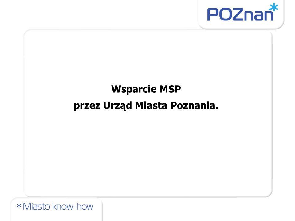 Wsparcie MSP przez Urząd Miasta Poznania.