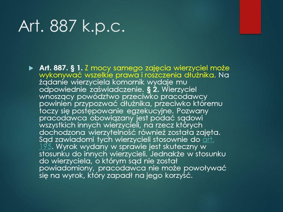 Art.887 k.p.c.  Art. 887. § 1.
