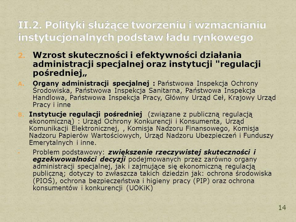 2. Wzrost skuteczności i efektywności działania administracji specjalnej oraz instytucji