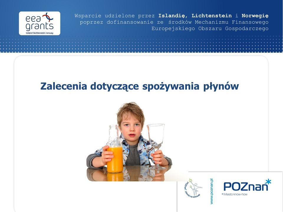 Zalecenia dotyczące spożywania płynów