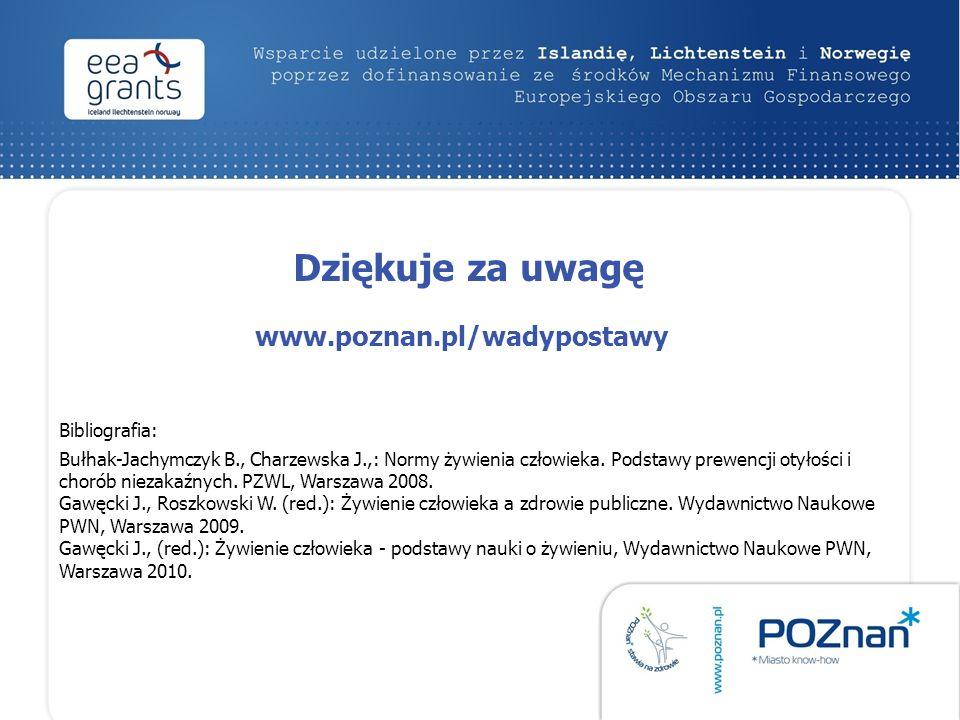 Bibliografia: Bułhak-Jachymczyk B., Charzewska J.,: Normy żywienia człowieka.