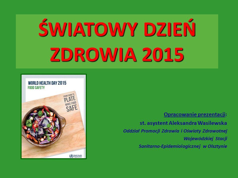 ŚWIATOWY DZIEŃ ZDROWIA 2015 Opracowanie prezentacji: st.