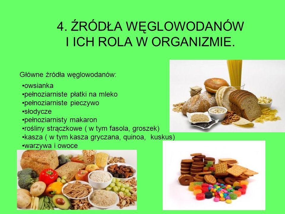 Węglowodany są pobierane wraz z pokarmem i rozkładane przez enzymy trawienne przewodu pokarmowego do cukrów prostych.
