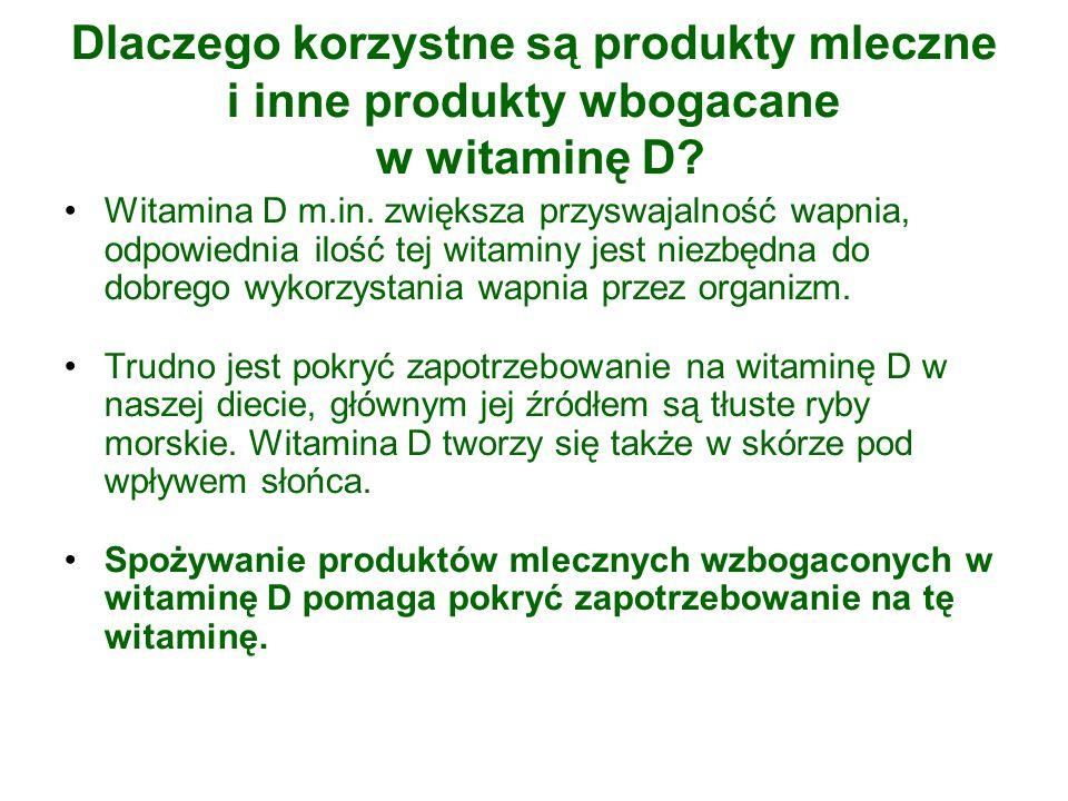Dlaczego korzystne są produkty mleczne i inne produkty wbogacane w witaminę D.