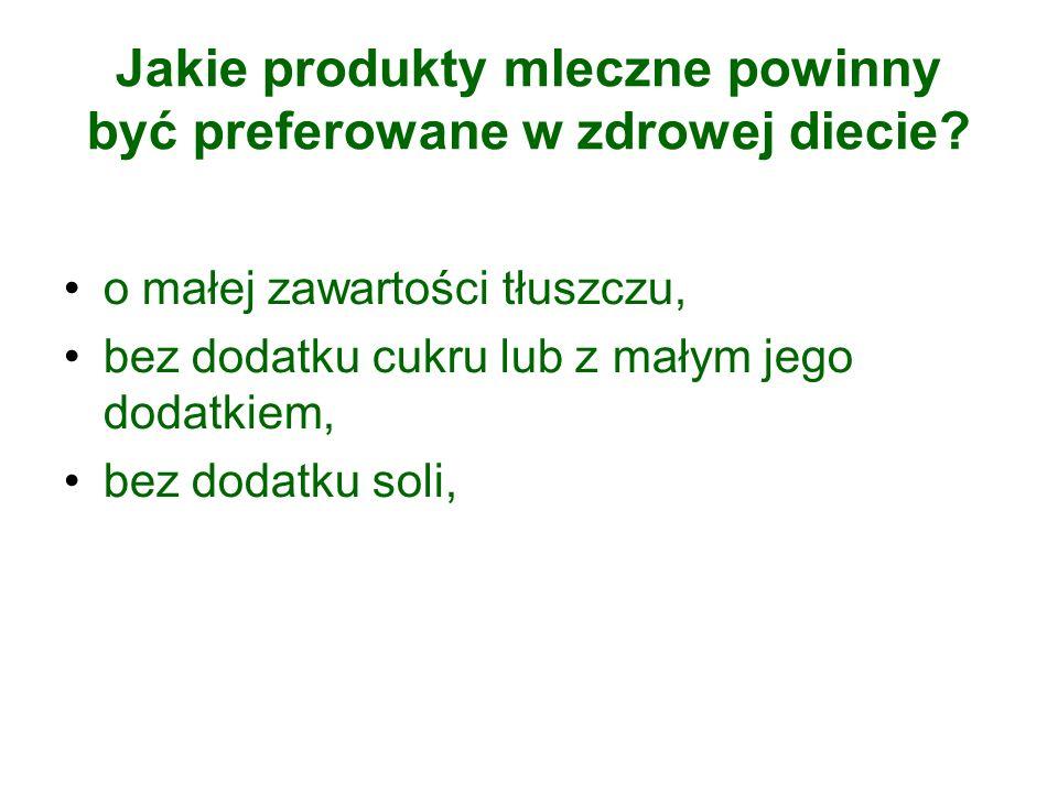 Jakie produkty mleczne powinny być preferowane w zdrowej diecie.