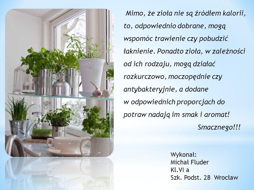 Mimo, że zioła nie są źródłem kalorii, to, odpowiednio dobrane, mogą wspomóc trawienie czy pobudzić łaknienie.