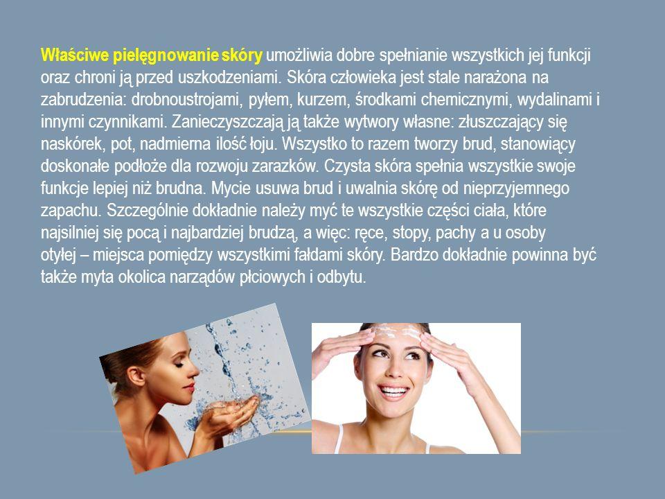 Właściwe pielęgnowanie skóry umożliwia dobre spełnianie wszystkich jej funkcji oraz chroni ją przed uszkodzeniami.