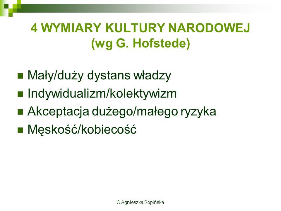 4 WYMIARY KULTURY NARODOWEJ (wg G.