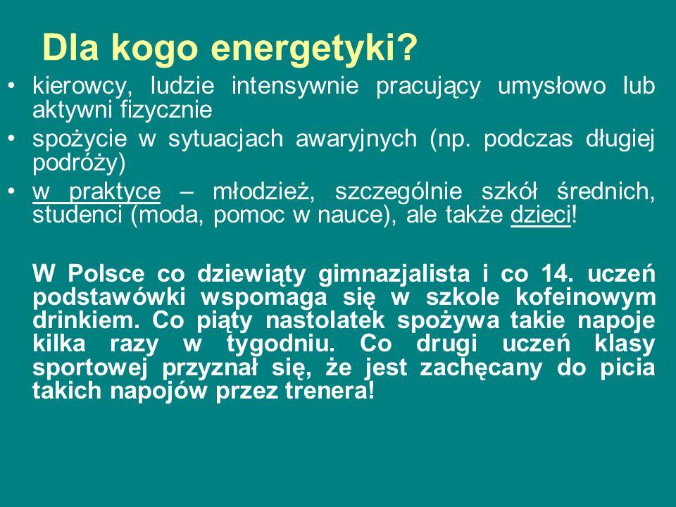 Warto wspomnieć, że nie wszystkie kraje zezwoliły na sprzedaż napojów energetyzujących na swoim obszarze.