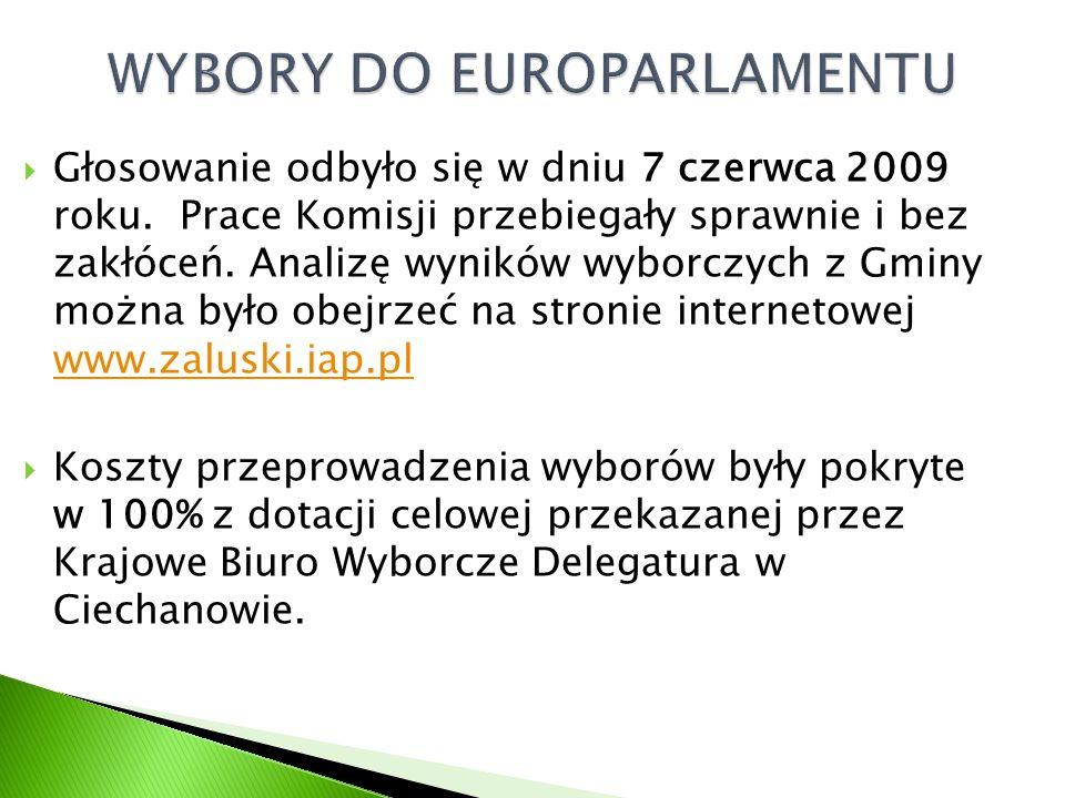  Głosowanie odbyło się w dniu 7 czerwca 2009 roku.