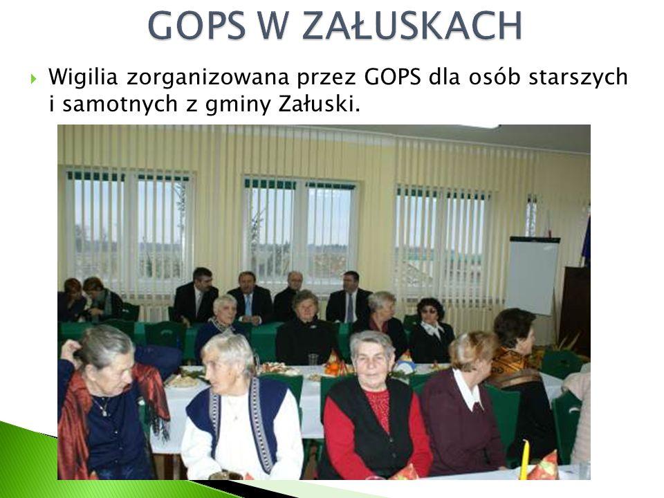  Wigilia zorganizowana przez GOPS dla osób starszych i samotnych z gminy Załuski.