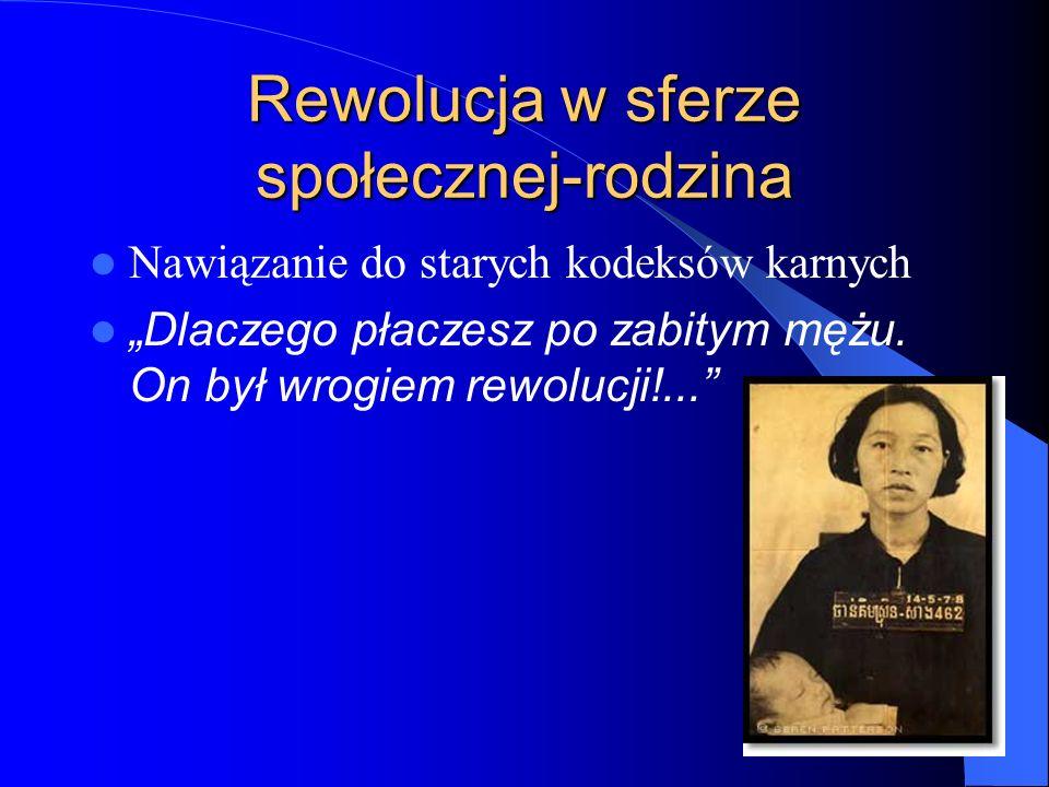 """Rewolucja w sferze społecznej-rodzina Nawiązanie do starych kodeksów karnych """"Dlaczego płaczesz po zabitym mężu. On był wrogiem rewolucji!..."""""""