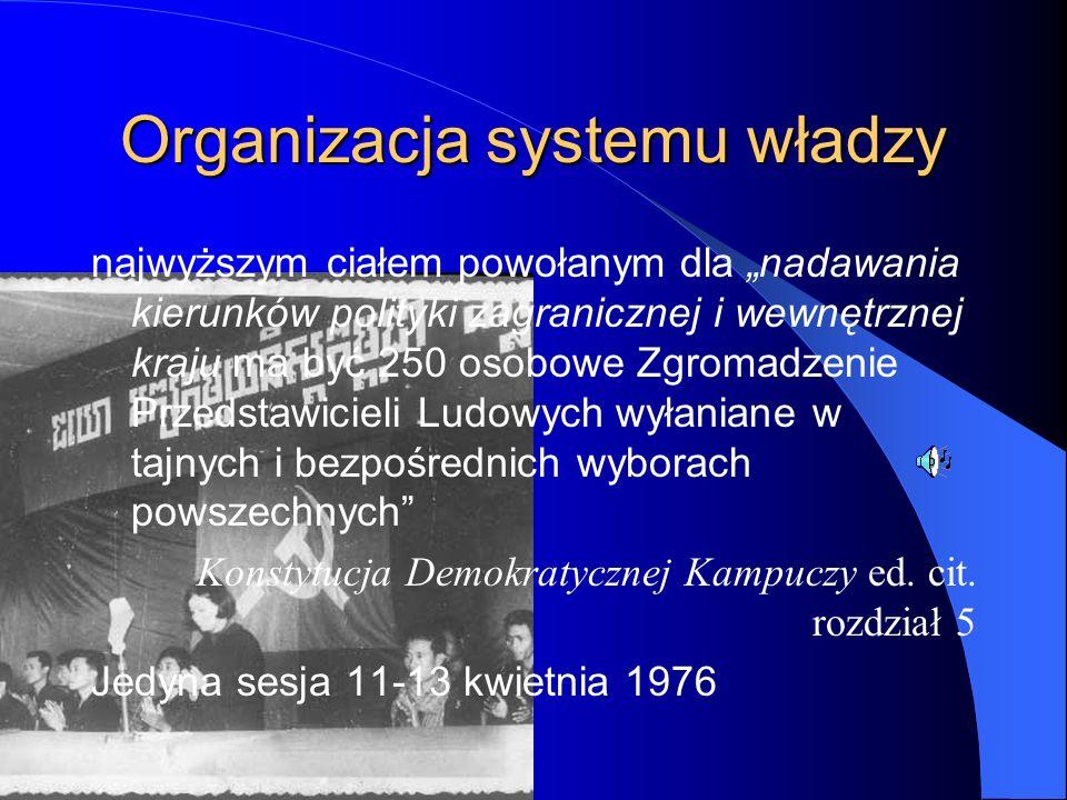 """Organizacja systemu władzy najwyższym ciałem powołanym dla """"nadawania kierunków polityki zagranicznej i wewnętrznej kraju ma być 250 osobowe Zgromadze"""