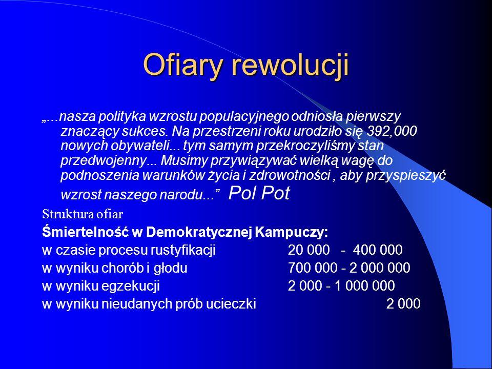"""Ofiary rewolucji """"...nasza polityka wzrostu populacyjnego odniosła pierwszy znaczący sukces. Na przestrzeni roku urodziło się 392,000 nowych obywateli"""