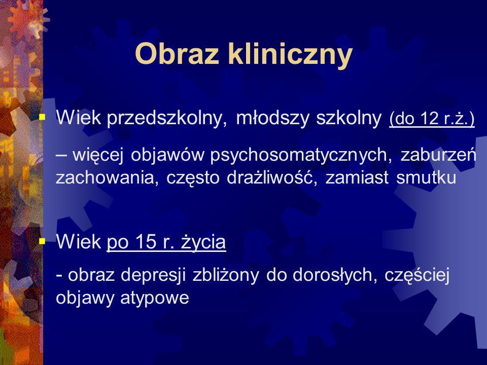 Różnicowanie  schizofrenia  zaburzenia schizoafektywne  zespół stresu pourazowego  cechy osobowości granicznej  zaburzenia nastroju spowodowane chorobą somatyczną, dysfunkcją mózgu lub nadużywaniem substancji psychoaktywnych