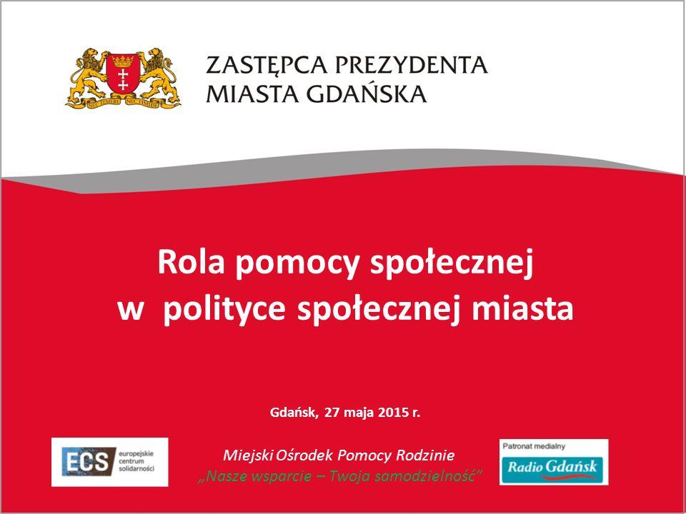 Rola pomocy społecznej w polityce społecznej miasta Gdańsk, 27 maja 2015 r.
