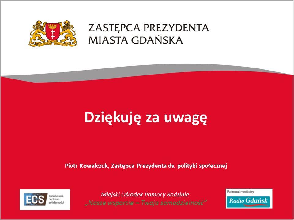 Dziękuję za uwagę Piotr Kowalczuk, Zastępca Prezydenta ds.