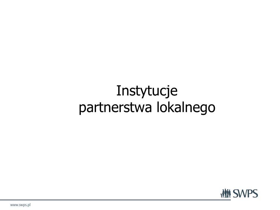 Instytucje partnerstwa lokalnego