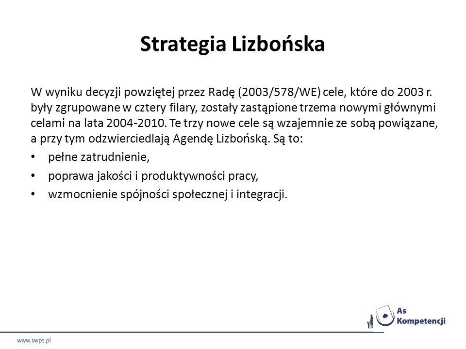 W wyniku decyzji powziętej przez Radę (2003/578/WE) cele, które do 2003 r.