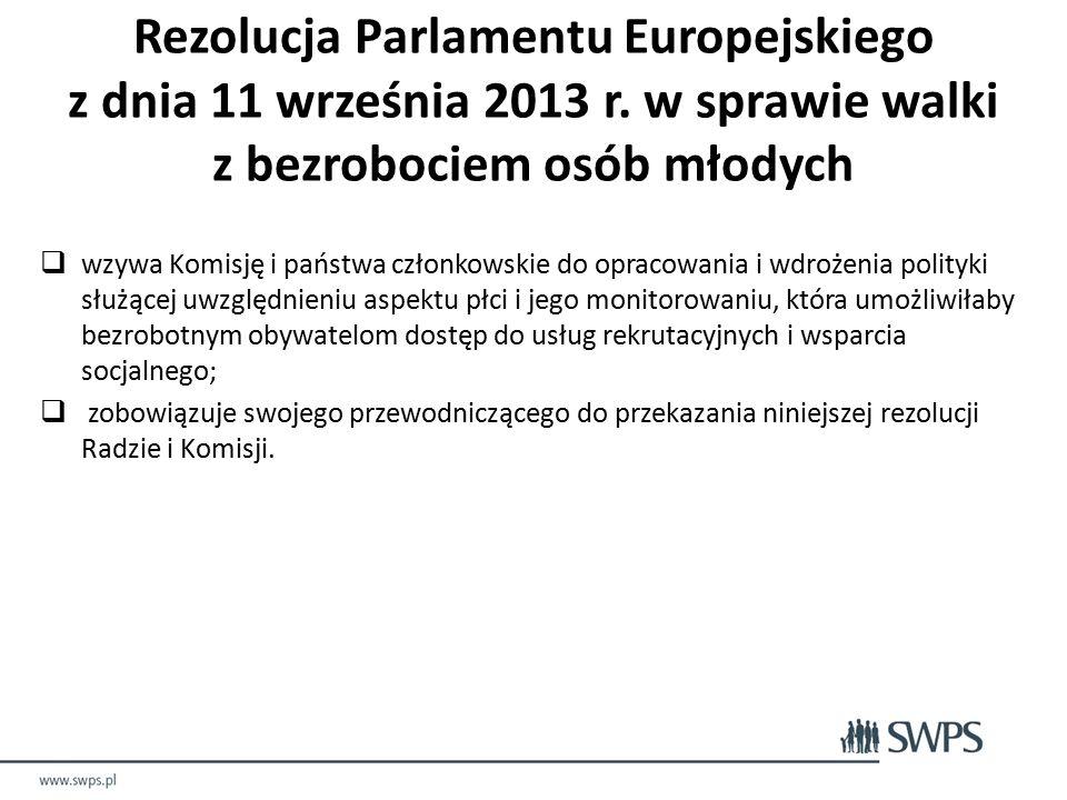 Rezolucja Parlamentu Europejskiego z dnia 11 września 2013 r.