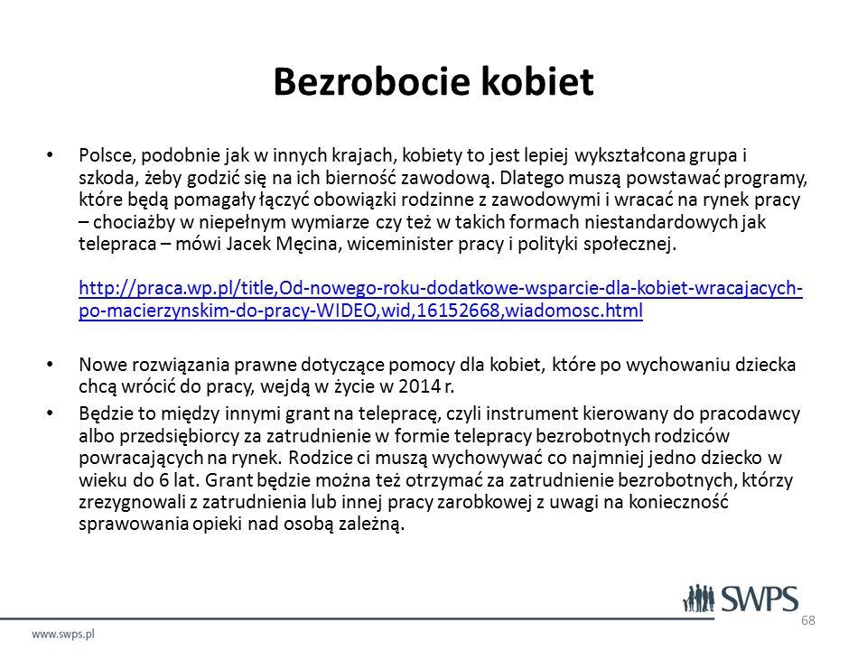 Polsce, podobnie jak w innych krajach, kobiety to jest lepiej wykształcona grupa i szkoda, żeby godzić się na ich bierność zawodową.