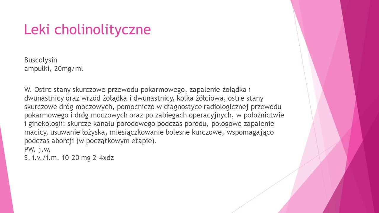 Leki cholinolityczne Buscolysin ampułki, 20mg/ml W.