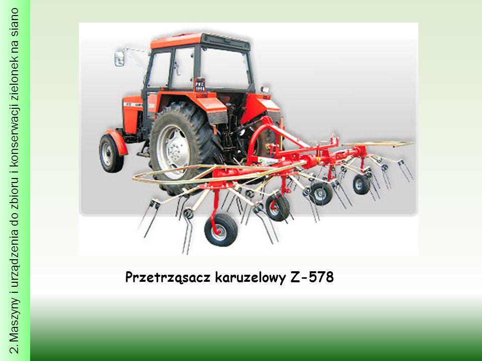 2. Maszyny i urządzenia do zbioru i konserwacji zielonek na siano Przetrząsacz karuzelowy Z-578