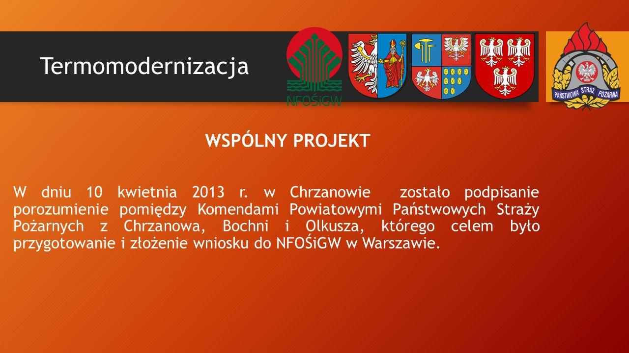 Termomodernizacja WSPÓLNY PROJEKT W dniu 10 kwietnia 2013 r.