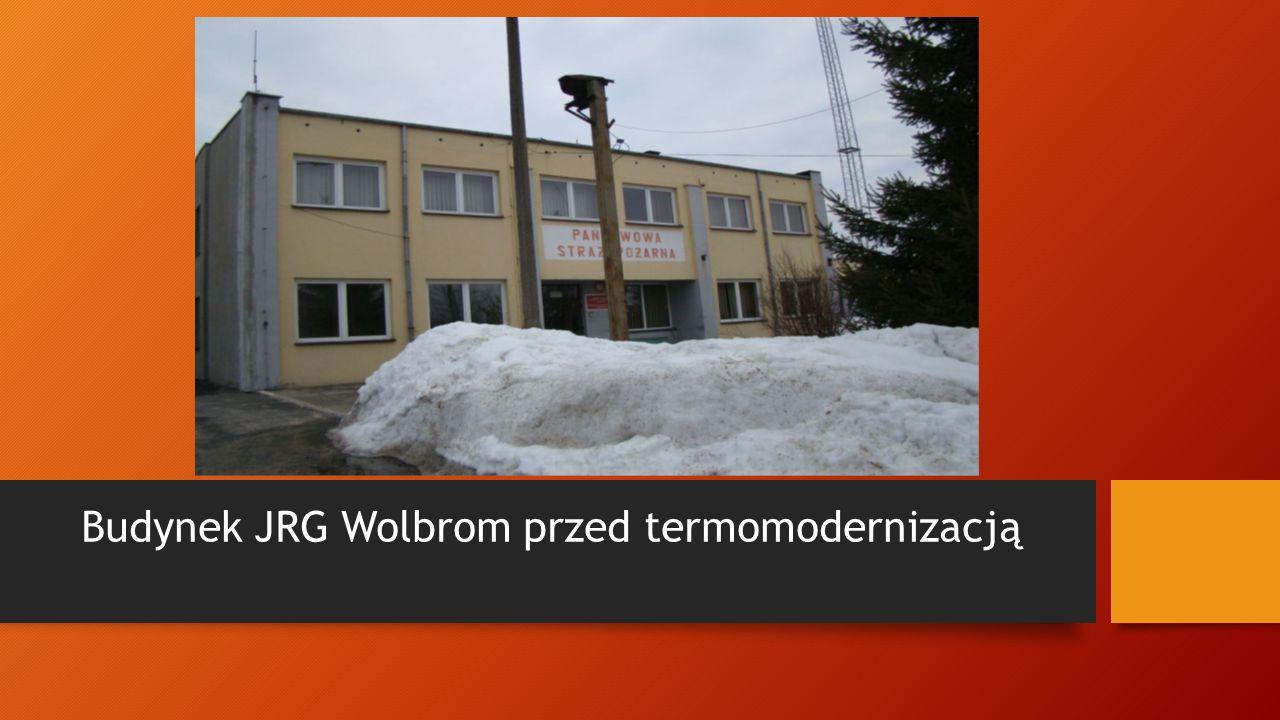 Budynek JRG Wolbrom przed termomodernizacją