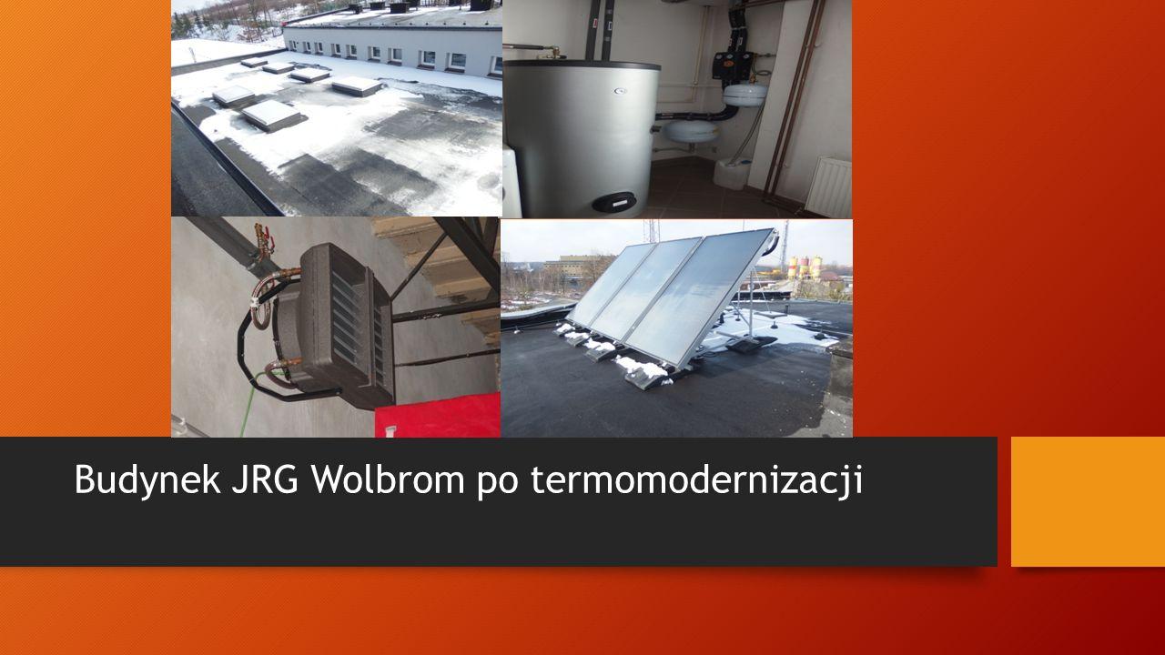 Termomodernizacja Zakres prac związany z termomodernizacją budynku KP PSP w Olkuszu - Montaż kurtyn powietrznych - Wymiana bram garażowych - Wymiana okien - Ocieplenie stropodachu wentylowanego cz.
