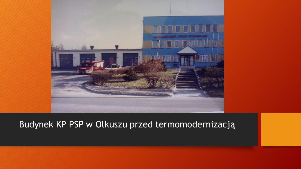 Budynek KP PSP w Olkuszu przed termomodernizacją