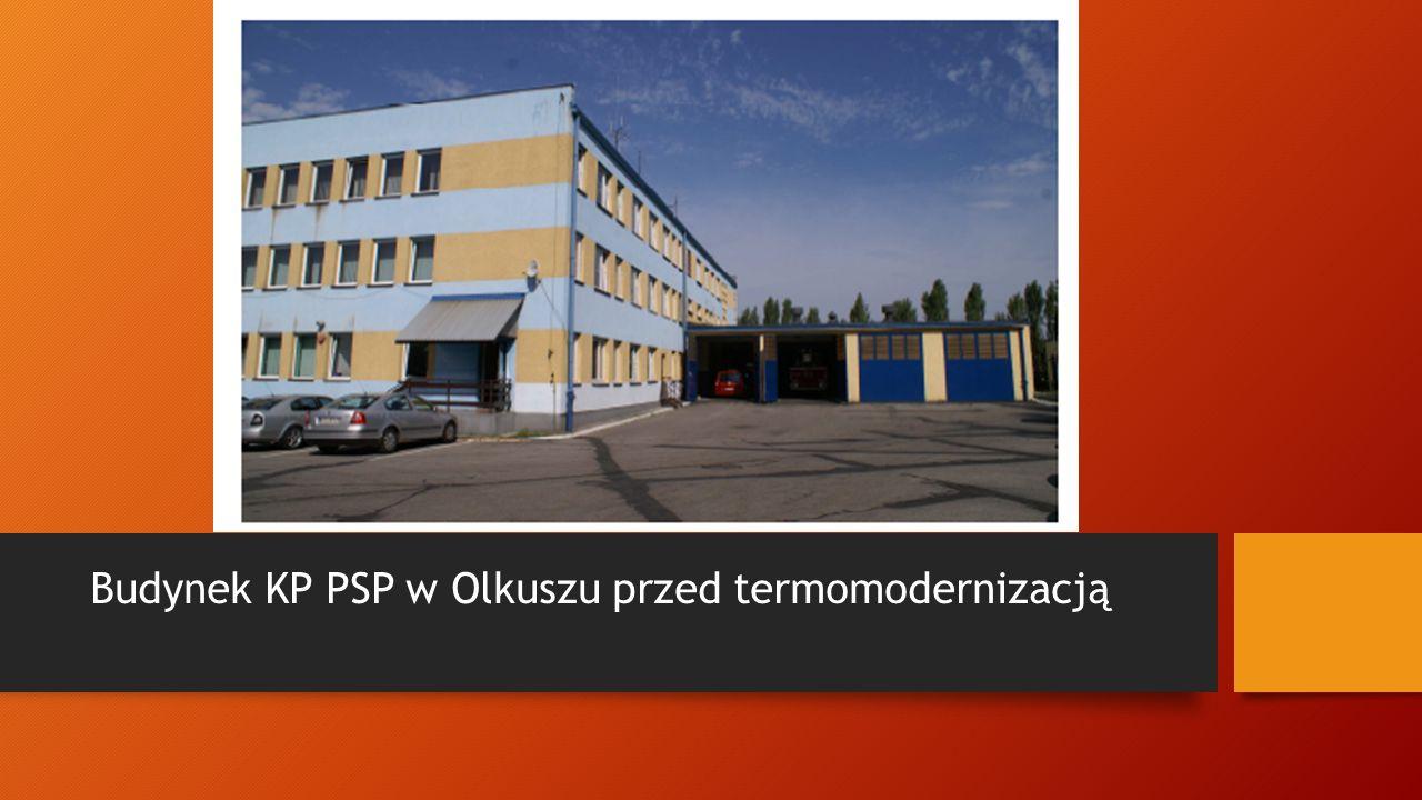 Budynek KP PSP w Olkuszu po termomodernizacji
