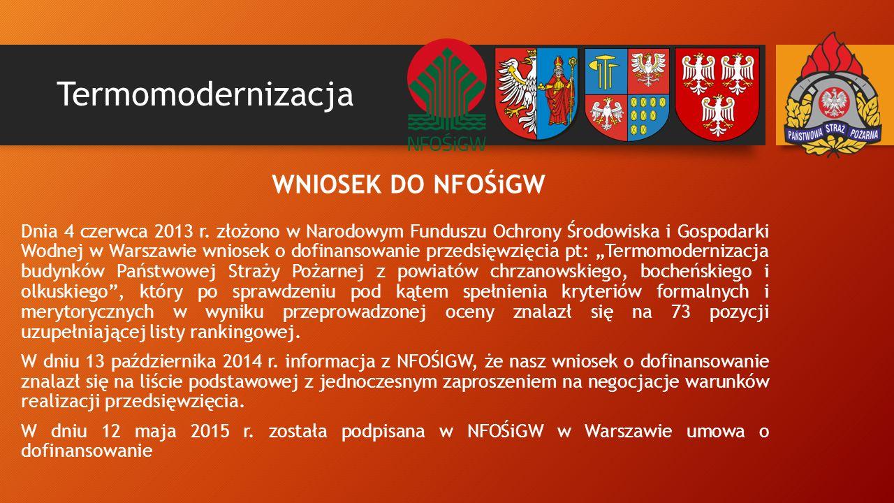 Termomodernizacja WNIOSEK DO NFOŚiGW Dnia 4 czerwca 2013 r.