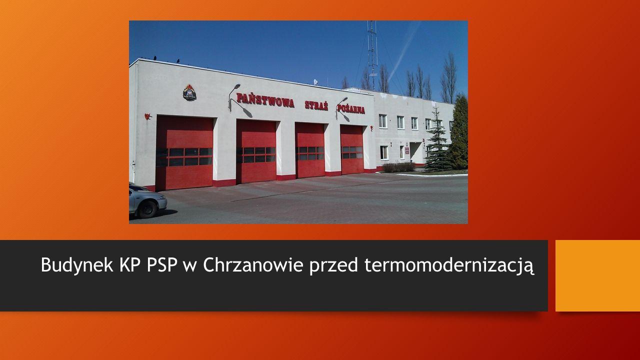 Budynek KP PSP w Chrzanowie przed termomodernizacją
