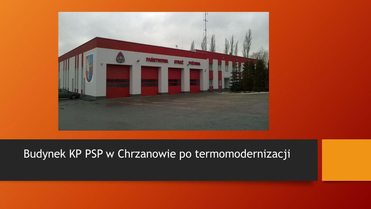 Budynek KP PSP w Chrzanowie po termomodernizacji