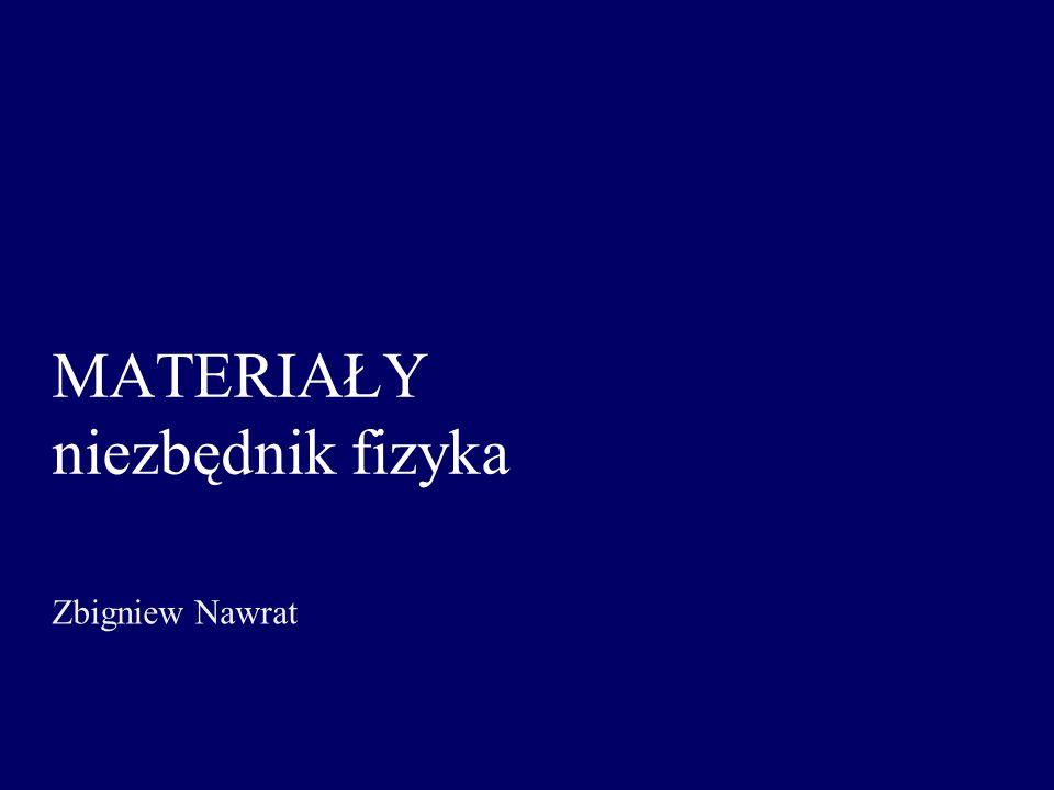 MATERIAŁY niezbędnik fizyka Zbigniew Nawrat