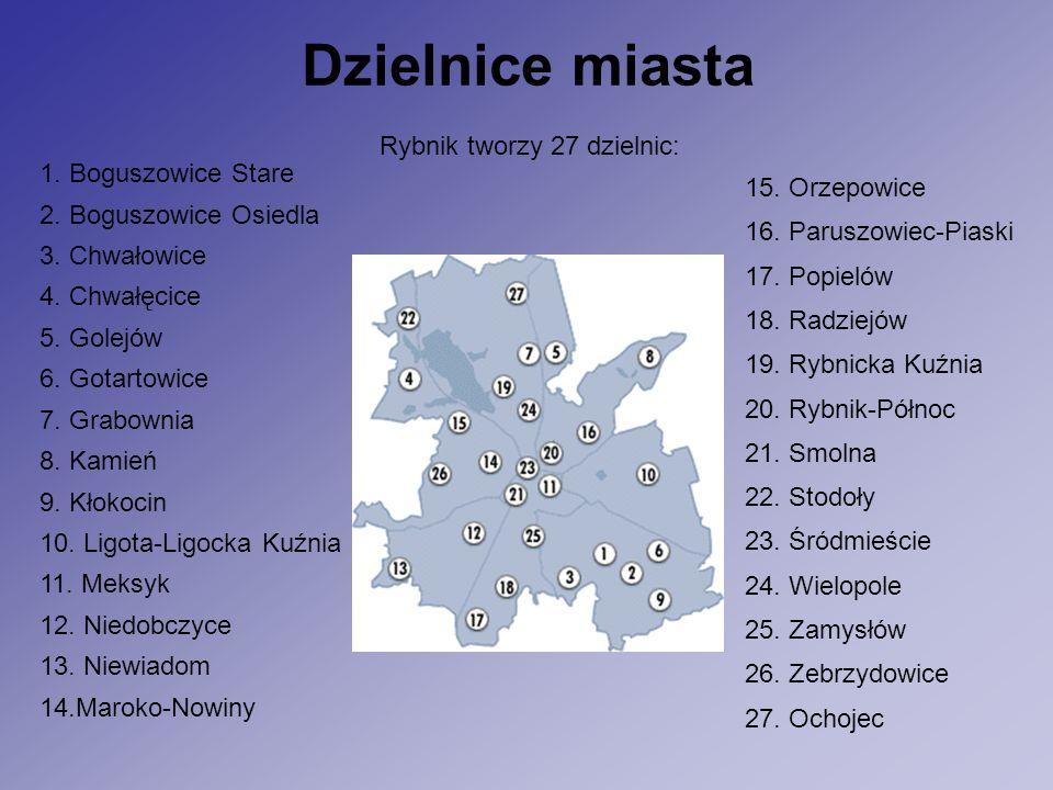 Dzielnice miasta Rybnik tworzy 27 dzielnic: 1. Boguszowice Stare 2.