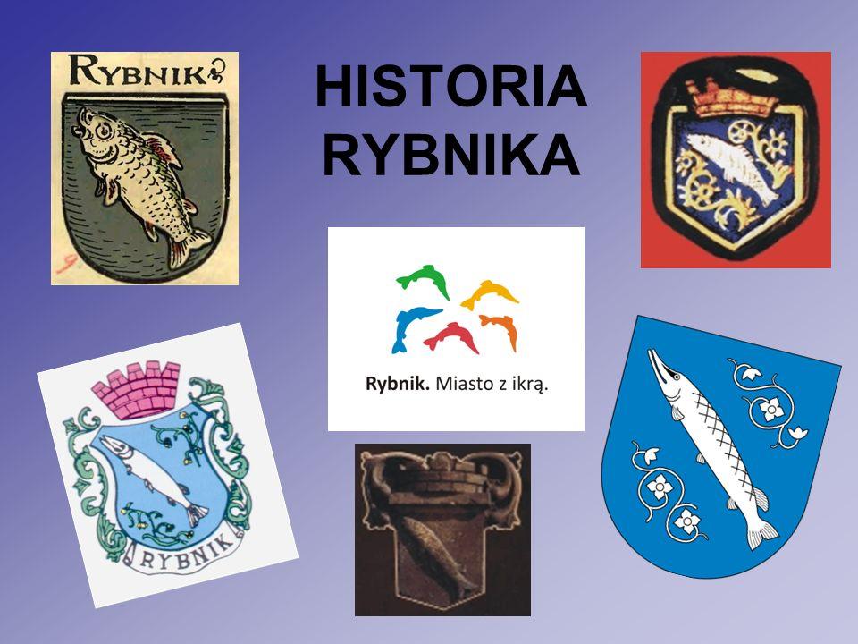 """Historia Rybnika Pierwsze zapiski o istnieniu Rybnika pochodzą z dokumentów łacińskich z lat 890 – 900 Rybnik powstał na początku XIV z trzech osad: """"Rybnika , """"Łony , """"Zagrodnik Przed 1308 r."""