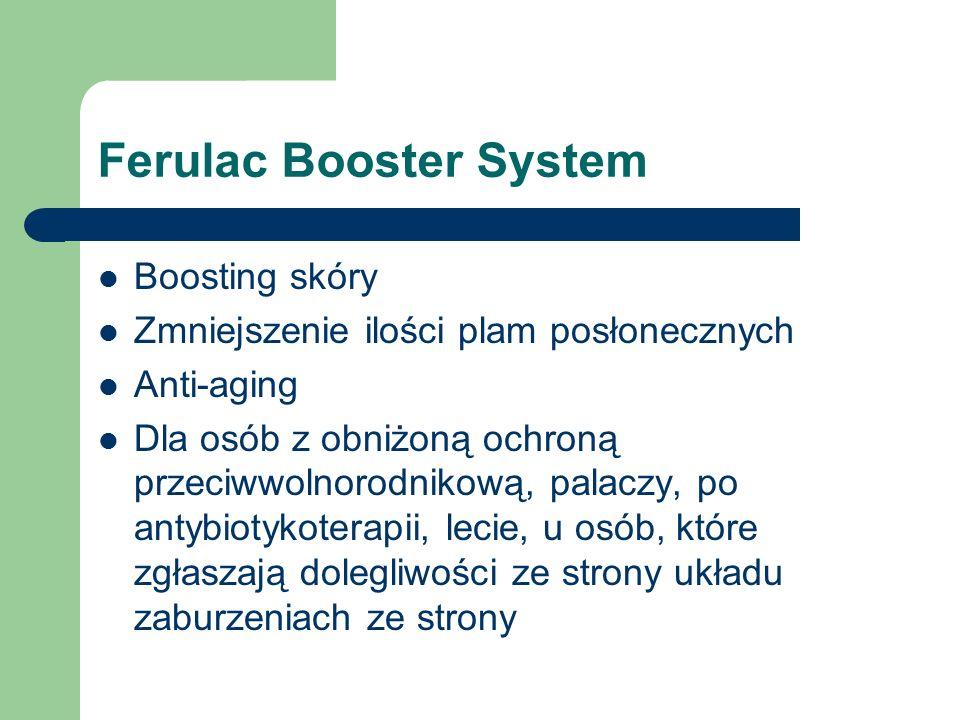 Ferulac Booster System Boosting skóry Zmniejszenie ilości plam posłonecznych Anti-aging Dla osób z obniżoną ochroną przeciwwolnorodnikową, palaczy, po