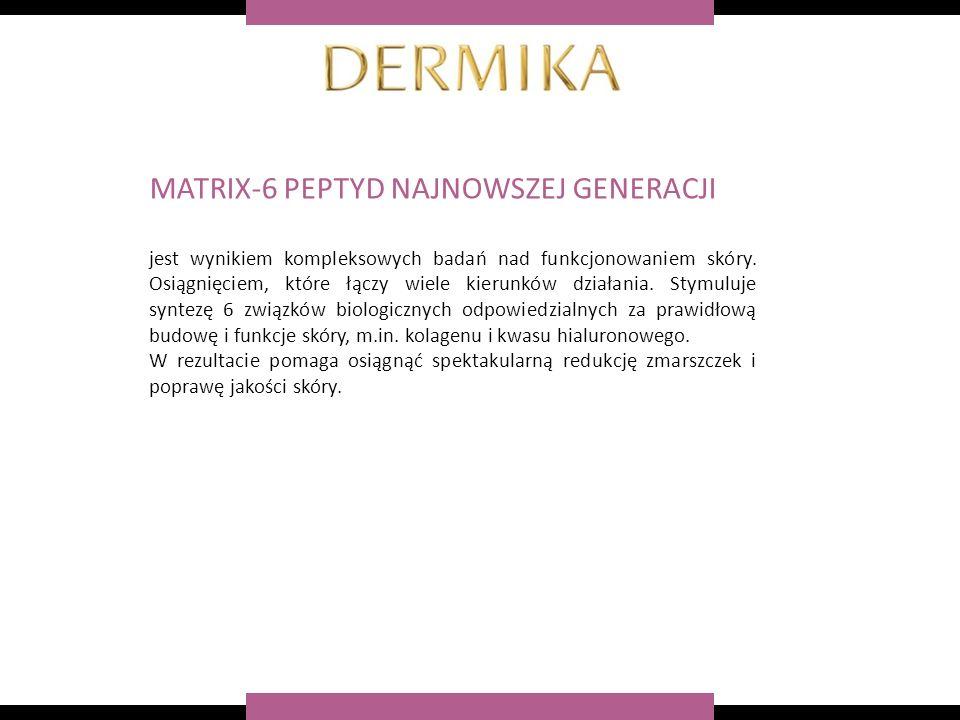 MATRIX-6 PEPTYD NAJNOWSZEJ GENERACJI jest wynikiem kompleksowych badań nad funkcjonowaniem skóry.