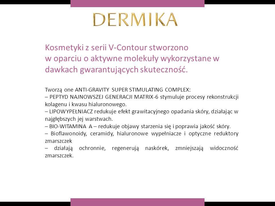 Kosmetyki z serii V-Contour stworzono w oparciu o aktywne molekuły wykorzystane w dawkach gwarantujących skuteczność.