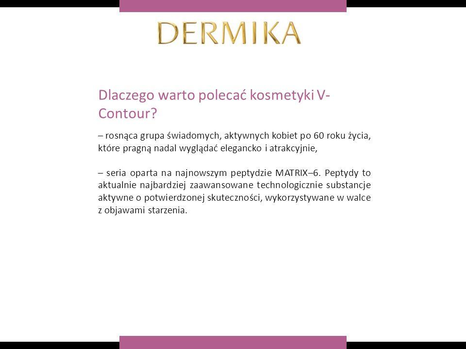– rosnąca grupa świadomych, aktywnych kobiet po 60 roku życia, które pragną nadal wyglądać elegancko i atrakcyjnie, – seria oparta na najnowszym peptydzie MATRIX–6.