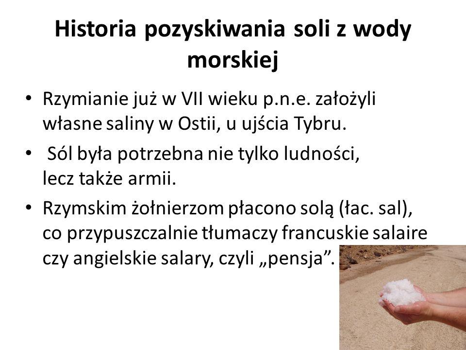 Historia soli Sól traktowana była jako rzecz święta, dana przez bogów, wiązało się z nią sporo symboli i wierzeń.