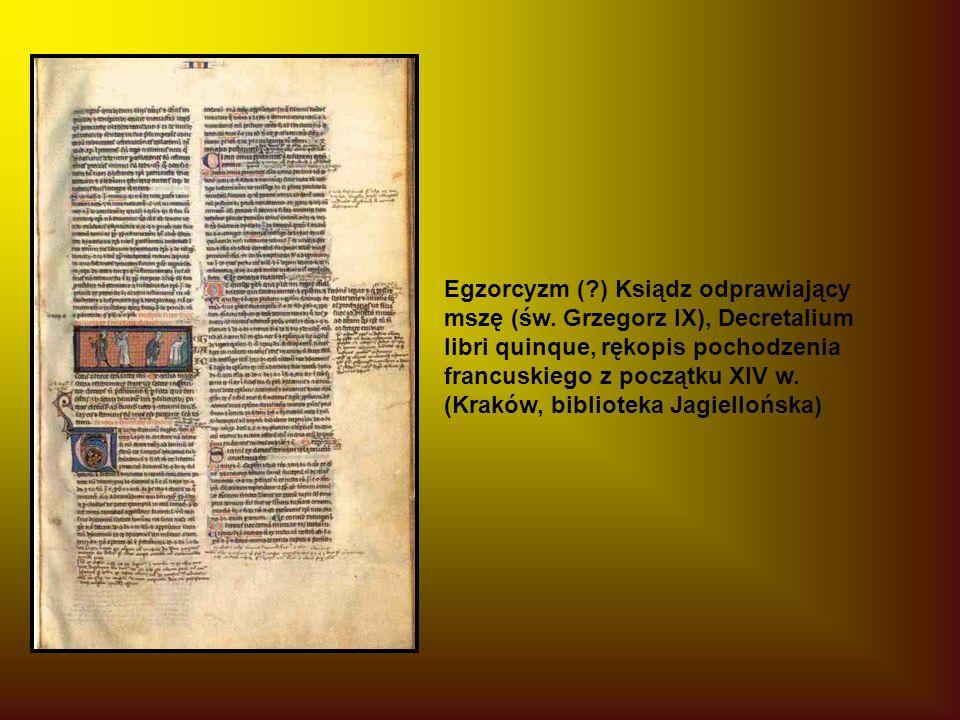 Egzorcyzm (?) Ksiądz odprawiający mszę (św.