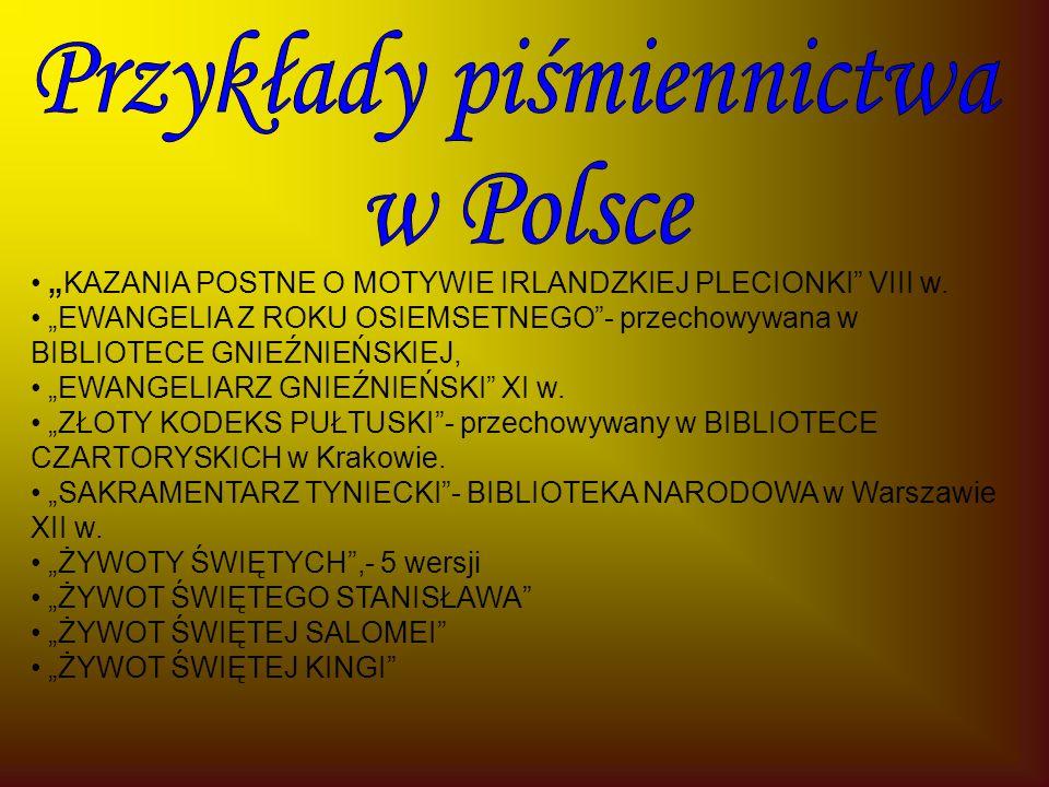"""""""KAZANIA POSTNE O MOTYWIE IRLANDZKIEJ PLECIONKI VIII w."""