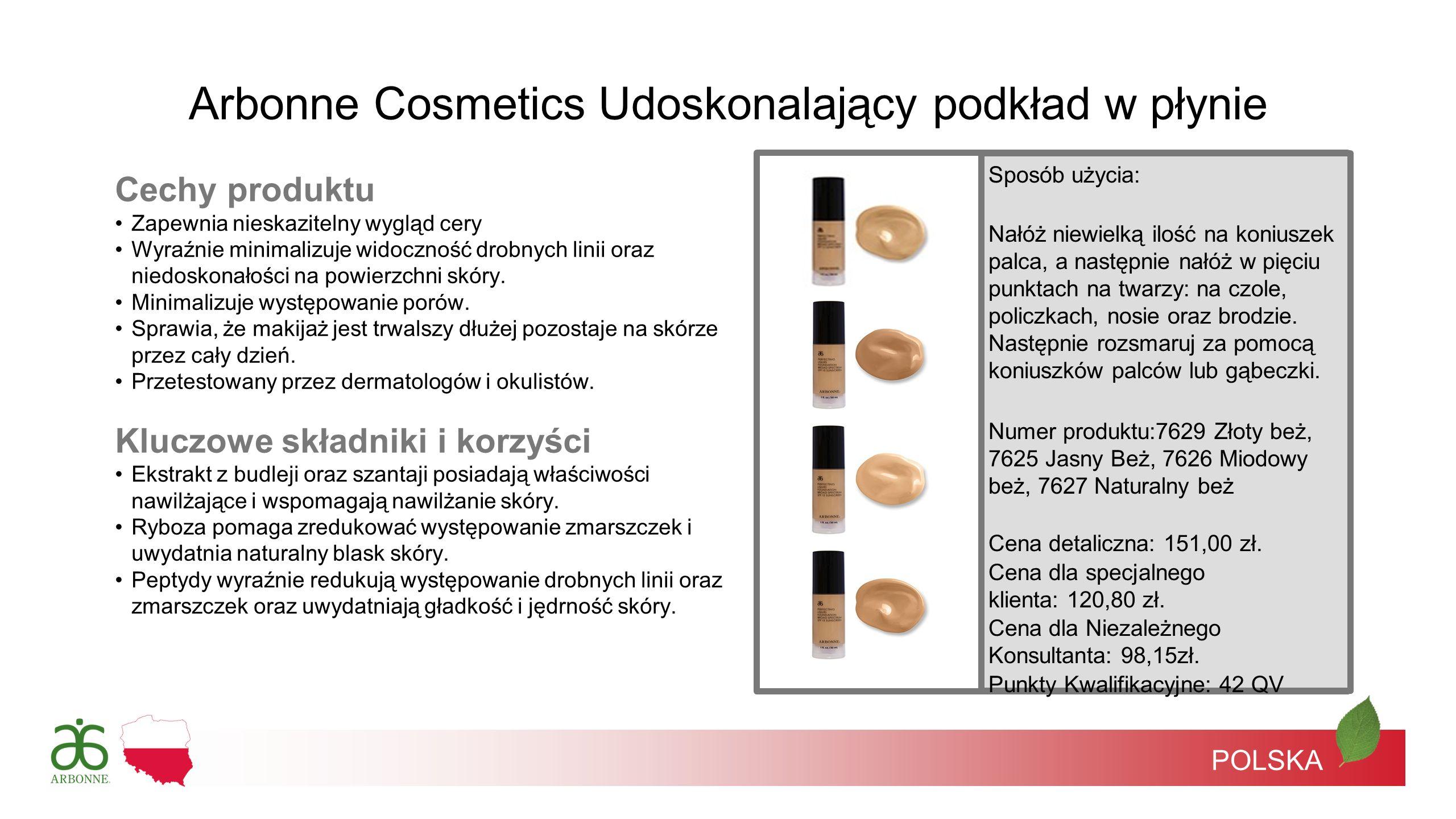 POLSKA Cechy produktu Zapewnia nieskazitelny wygląd cery Wyraźnie minimalizuje widoczność drobnych linii oraz niedoskonałości na powierzchni skóry. Mi